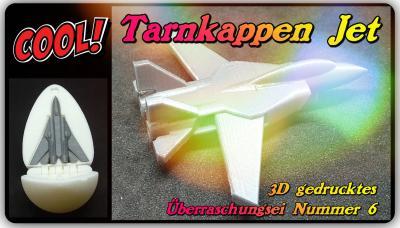 Tarnkappen Jet -3D gedrucktes Überraschungs-Ein