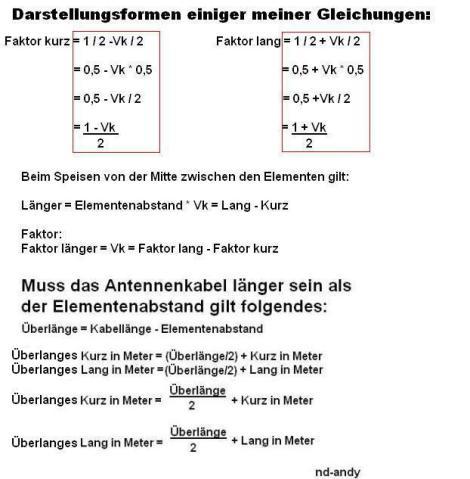 Darstellungsformen der Gleichungen, aber es gibt noch mehr Möglichkeiten