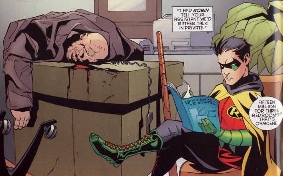 Damian Wayne. Bekannt für seine ganz eigenen Moralvorstellungen.
