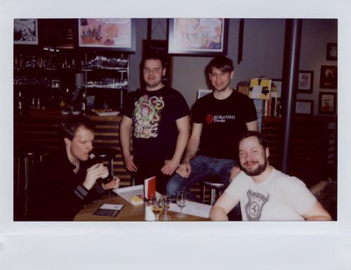 Armin Parr, Michael Bober, Patrick Abele und Sebastian Jakob