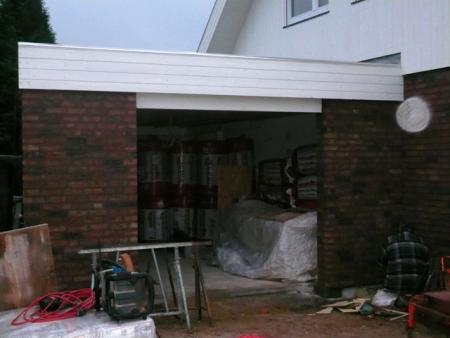 18.12.: Garage wird gefugt