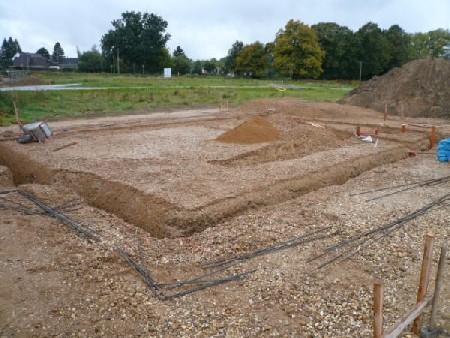Aufnahme am 30.09.2008: Fundamente für das Haus