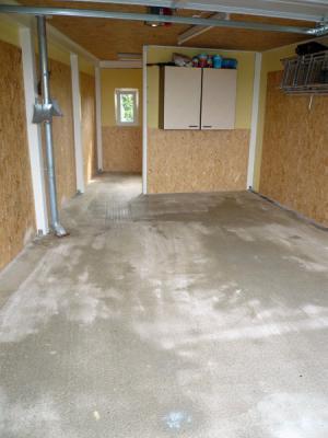 Garagenboden geschliffen und grundiert