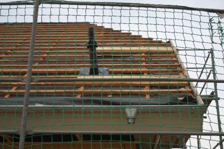 30.10.: Minischornstein auf dem Dach