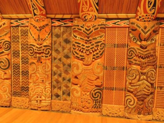 Wall in Maori House