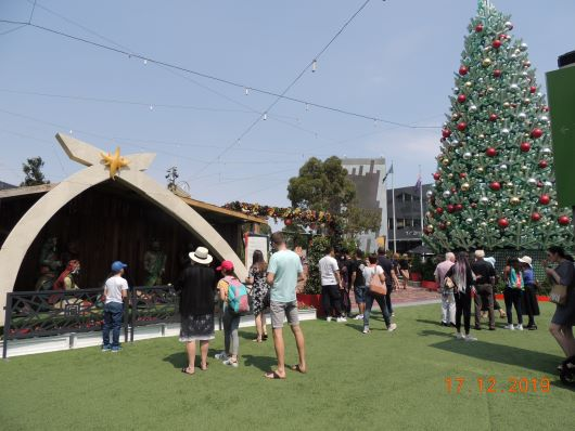 Weihnachten am Fed Square
