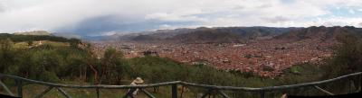 Cusco from a lookout at Sacsayhuaman
