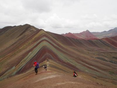 The top of the famous Rainbow Mountains
