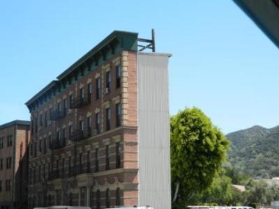 Eine Fassade der Drehkulissen