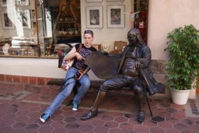 Fenna mit Benjamin Franklin