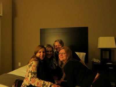 Wir in unserer texanischen Unterkunft - dem Holiday Inn