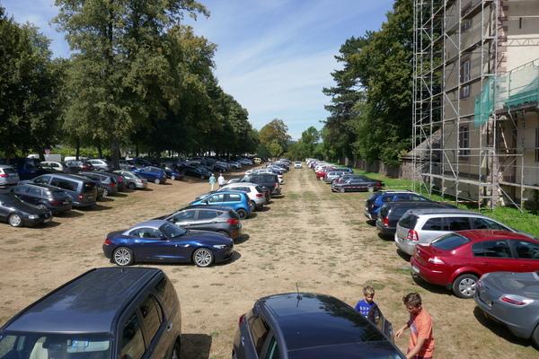 Schloss Corvey Parkplatz