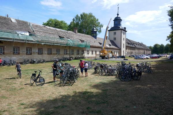 Corvey: Fahrräderparkplatz