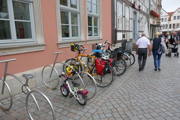 Fahrradständer in Hameln
