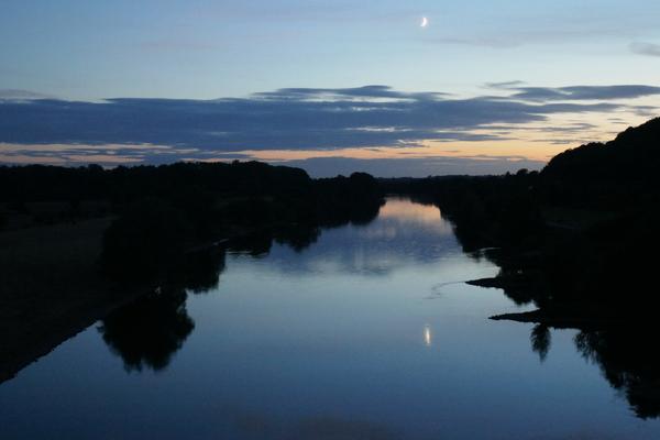 Weser bei PW im Mondschein