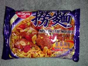Nissin Stir Noodles - Spicy Garlic Flavour