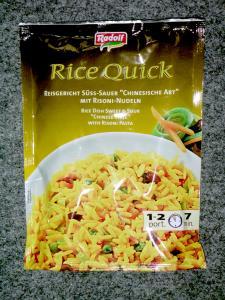 """Radolf - Rice Quick - Reisgericht Süss-Sauer """"Chinesische Art"""" mit Risoni-Nudeln"""