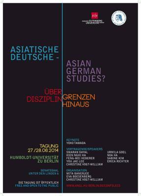 """Plakat für die Konferenz """"Asiatische Deutsche - Asian German Studies?"""""""