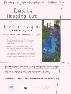 Poster für den Vortrag von Gajjala in Berlin