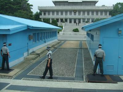 In der Joint Security Area auf südkoreanischer Seite