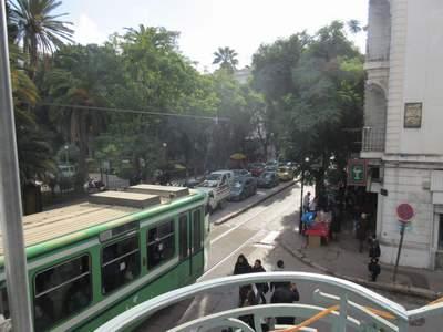 Blick vom Hotelbalkon in Tunis
