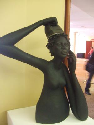 sculpture by Ruth Park presented at Conference Borderpolitics of Whiteness, December 2006 in Sydney