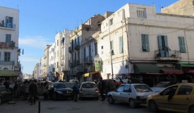 Straßenszene in Tunis