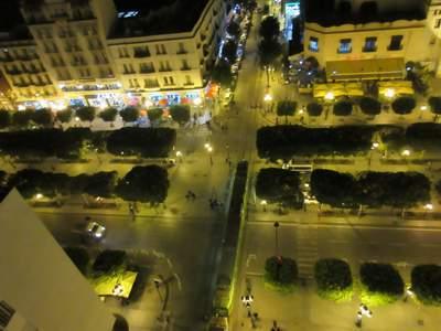 Blick von oben auf das Zentrum von Tunis