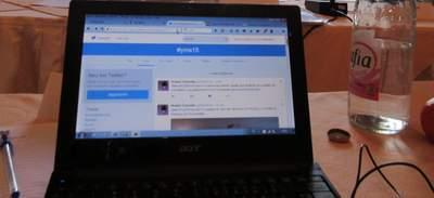 #yms15 auf dem Computerbildschirm