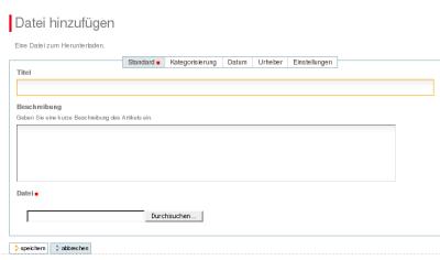 Datei neu in Plone integrieren