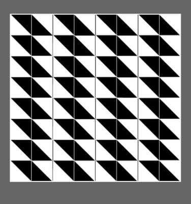 Das Quadrat ist gestoehrt.