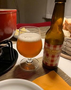 Spiced-Beer, speziell für Käsefondue. Nächstes mal besser Weisswein...
