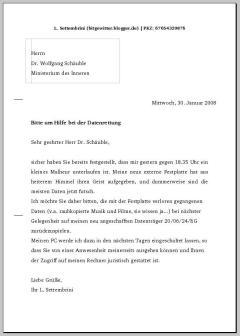 Brief an Wolfgang