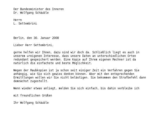 Antwort von Wolfgang