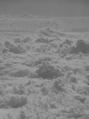 Die Wolken aus einem Flugzeug über Afrika