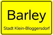 Ortseingangsschild Barley