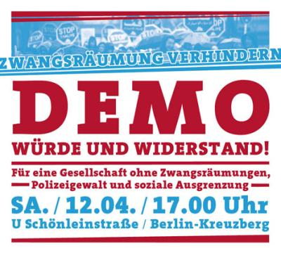 flyer zur rosemarie-demo 2014