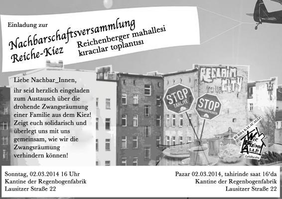 einladungsflyer zur nachbarschaftsversammlung im maerz 2014