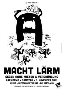 flyer zur laerm-demo am 8. november 2014