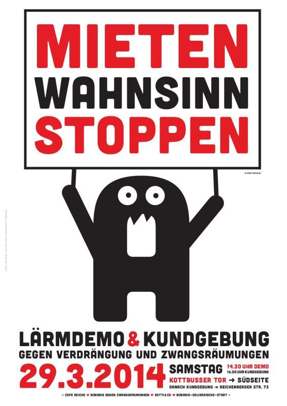 plakat zur laermdemo und kundgebung am 29.03.2014