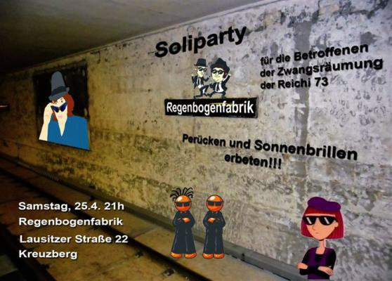 soli-party in der regenbogenfabrik