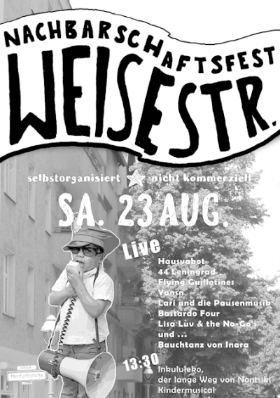 flyer zum Neukoellner Strassenfest in der weisestr. 2014