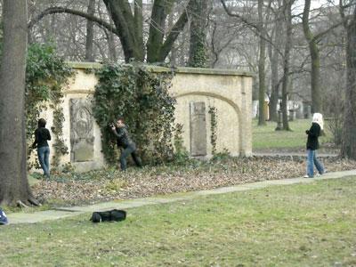 leipzig, alter johannisfriedhof, märz 2009
