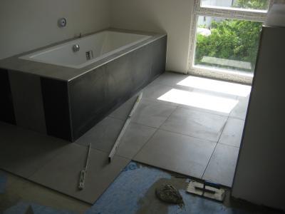 Bautagebuch von chrissi und philipp for Geflieste badezimmer
