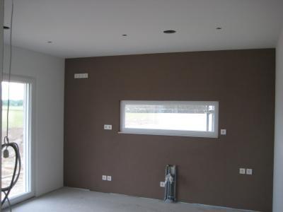 Bautagebuch von chrissi und philipp for Wohnzimmer eine wand farbig