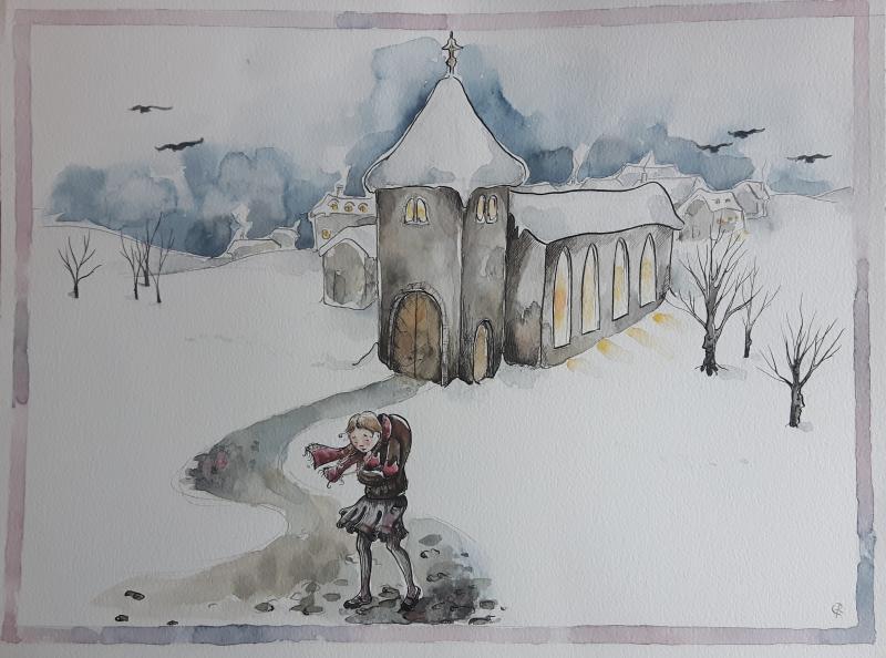 Sie huschte zur Kirche und wieder nach Haus,<br /> sah bitter und m&uuml;de meist aus.
