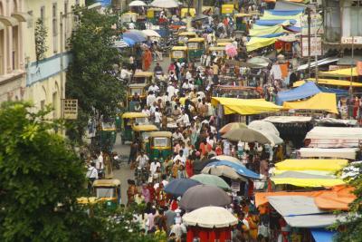 Marktstraße in Ahmedabad