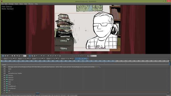 Screenshot des Clips in Motion Artist