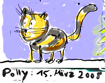 Polly. Unsere neue Katze.