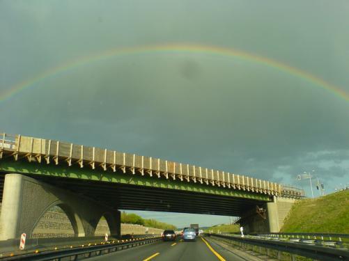 Auf der Fahrt nach Leipzig dieser Regenbogen bei Jena